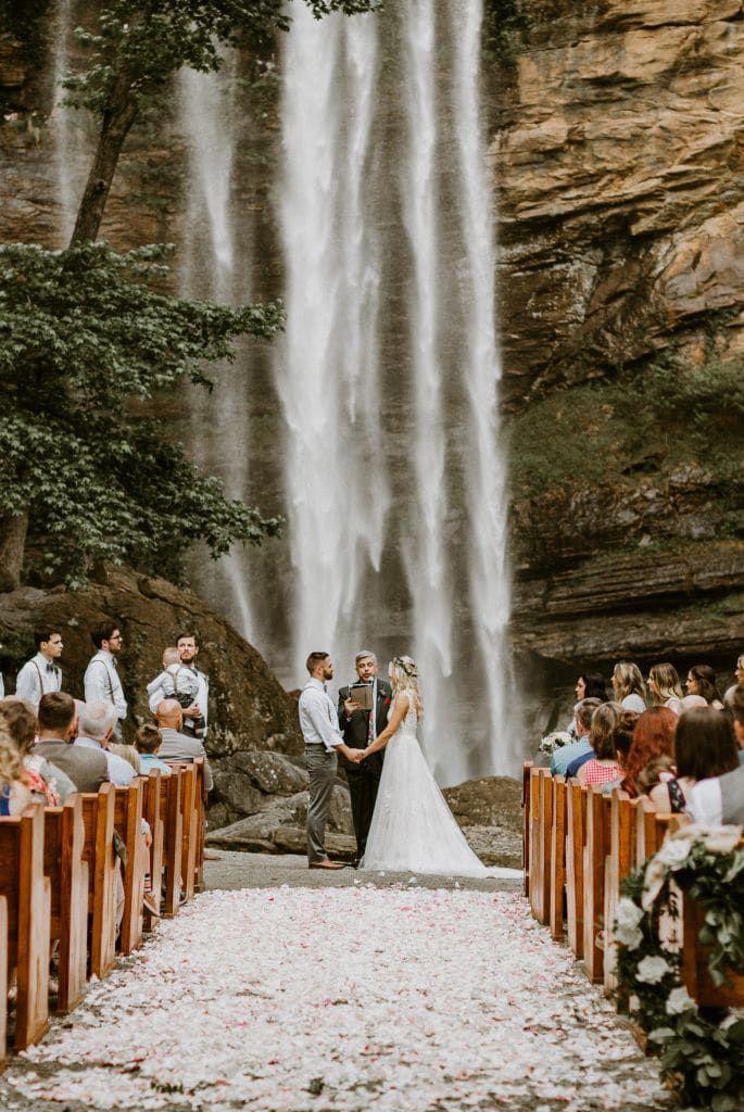 Toccoa Falls Waterfall Wedding Wandering Weddings