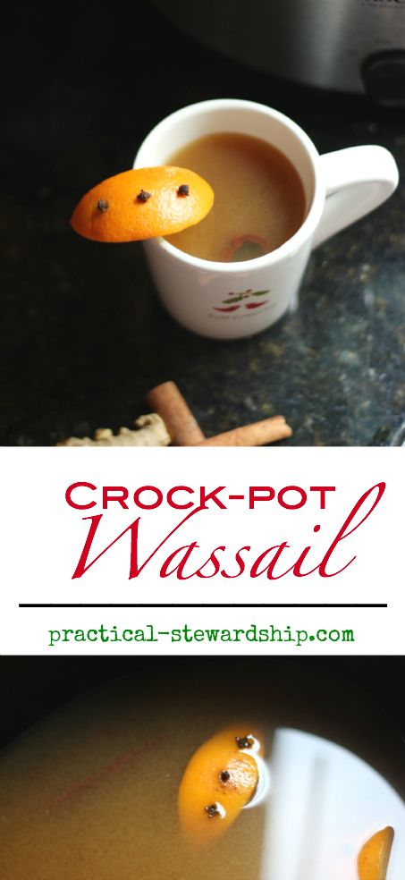 Kid-Friendly Crock-pot Wassail-so good and makes the house smell so festive!