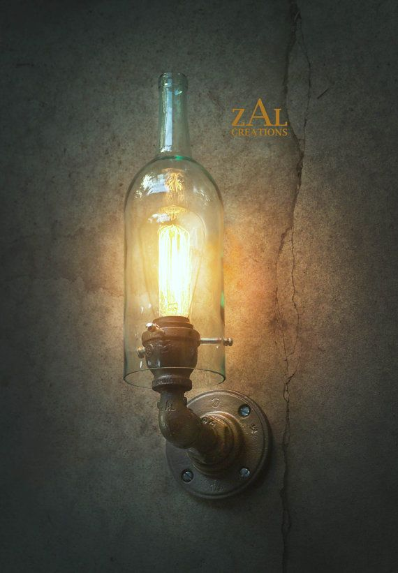 Licht van de muur. Schans. Wijnfles. Loodgieters door ZALcreations