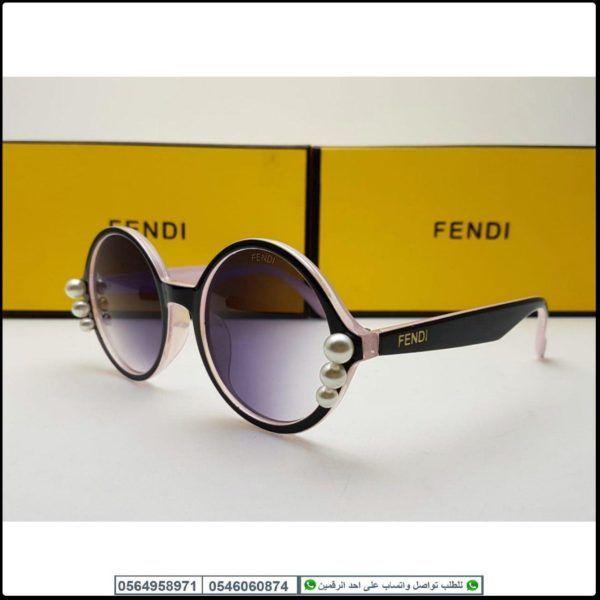 نظارات فندي النسائيه Fendi مع كامل ملحقاتها و بنفس اسم الماركه Fendi Sunglasses Oval Sunglass