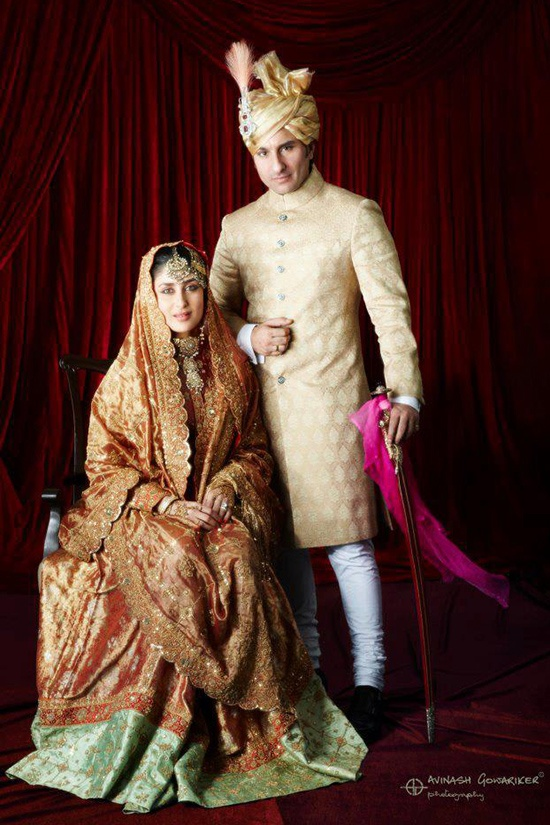 Kareena Kapoor and Saif Ali Khan Wedding Album and Reception Photos
