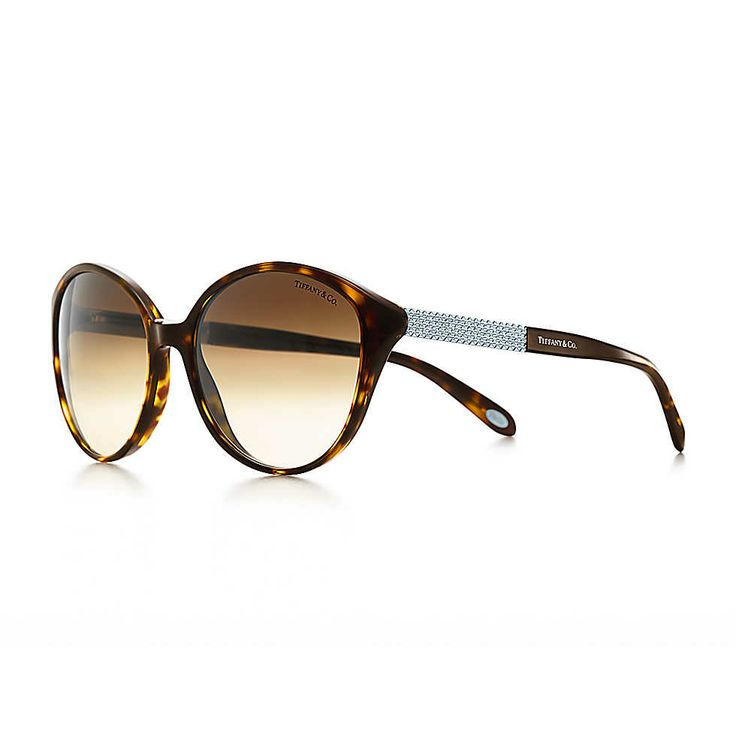 4c20834b7f6 Tiffany Metro cat eye sunglasses in tortoise acetate with Austrian crystals.