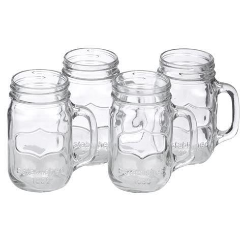 Anna Gare - Retro Jar Tumbler Set 4pce