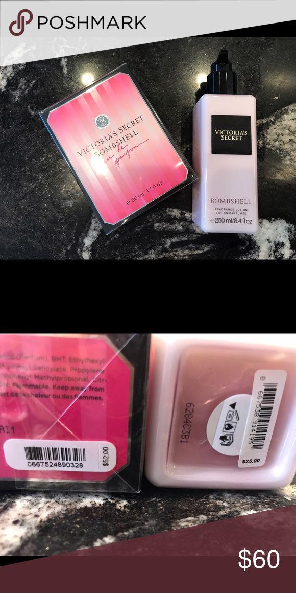 Bombshell Eu de perfume & Bombshell Lotion NEW NEVER OPENED. Victorias Secret Bombshell perfume size 1.7fl oz and Victorias Secret Bombshell fragrance lotion size 8.4fl oz Victoria's Secret Other