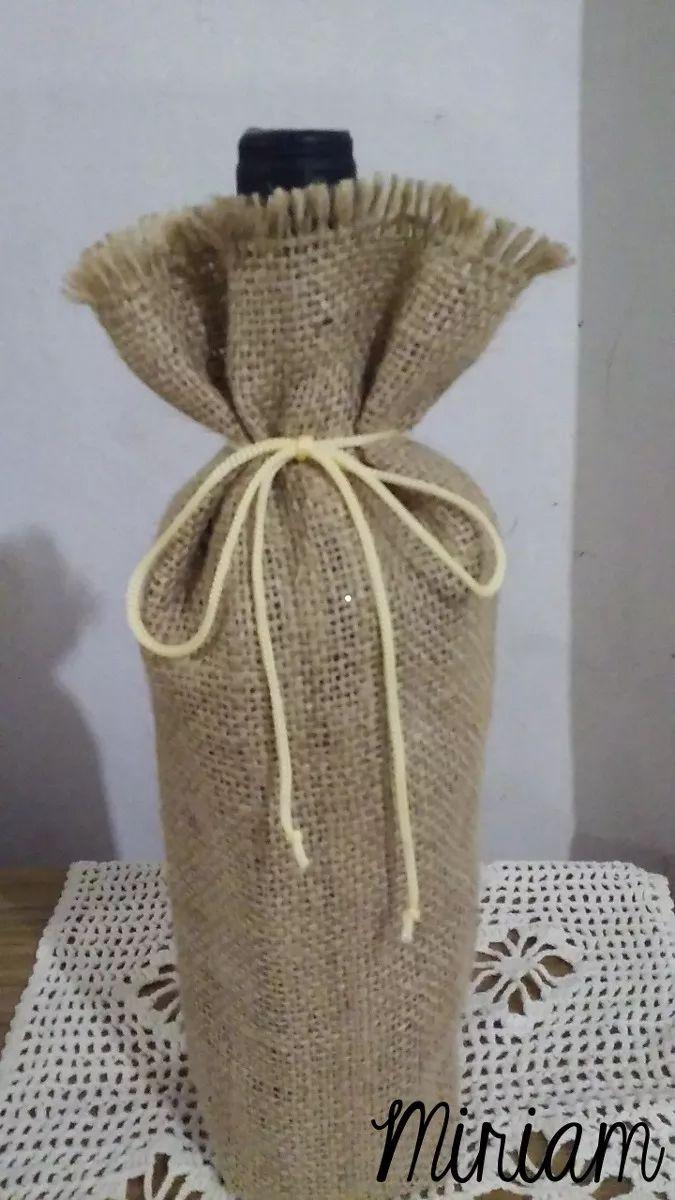 bolsas de arpillera para vinos, regalos, souvenirs, etc.