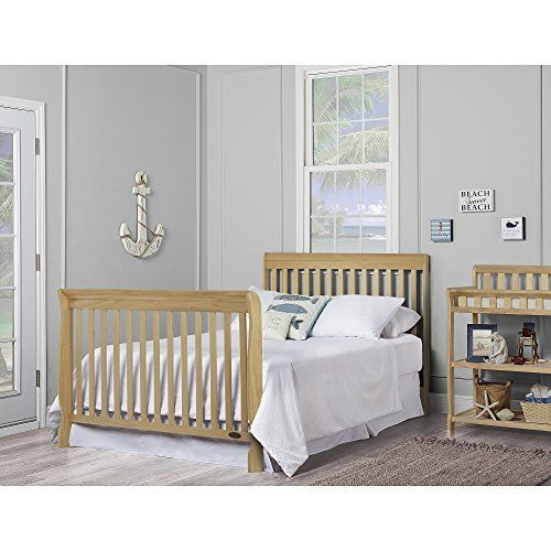 Dream On Me Ashton 5 In 1 Convertible Crib Natural Bed Frame Mattress Cribs Bed Rails For Toddlers