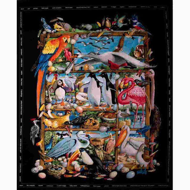 Bavlněná látka Bird Watching (L1975) | Bargello - všechno pro patchwork