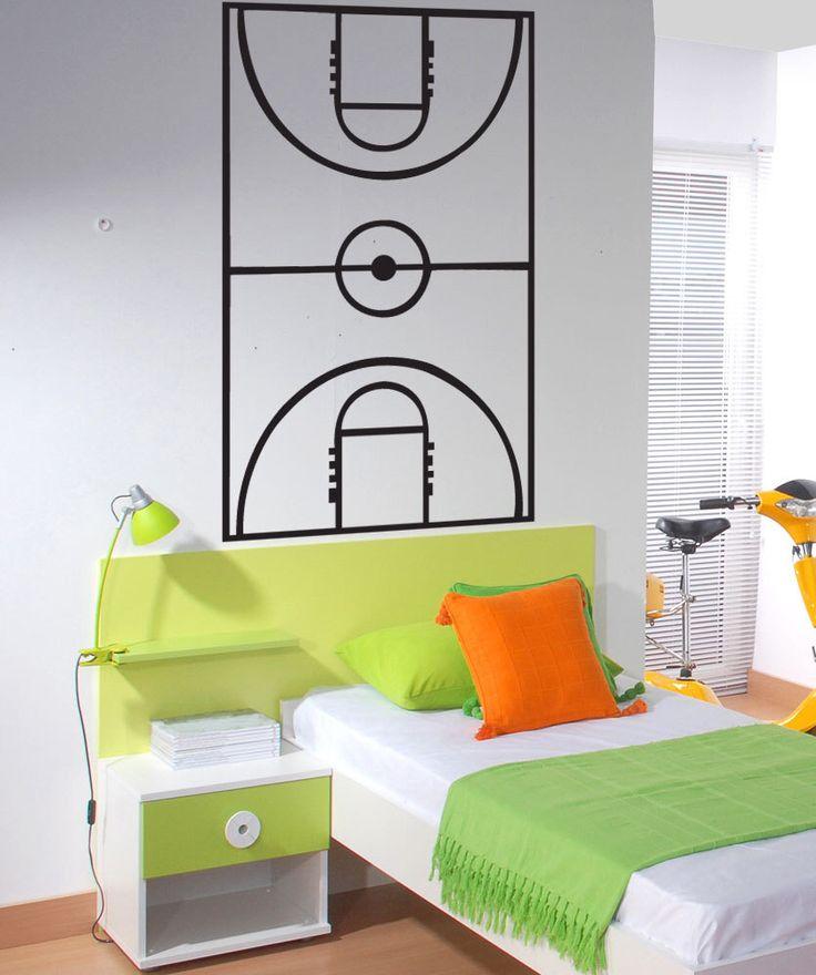 Vinyl Wall Art Decal Sticker Basketball Court Board Layout  1320s by Stickerbrand on Etsy https://www.etsy.com/listing/171790539/vinyl-wall-art-decal-sticker-basketball