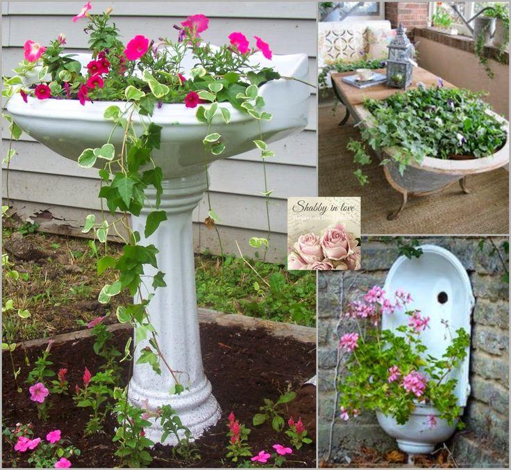 Shabby in love: Lovely garden Container ideas
