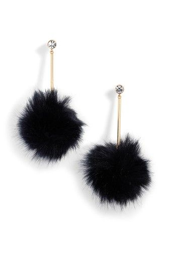 Free shipping and returns on kate spade new york flying colors faux fur pompom earrings at Nordstrom.com. Add some nearly weightless drama to your look with playful drops that pair crystal studs with fluffy faux-fur pompoms.
