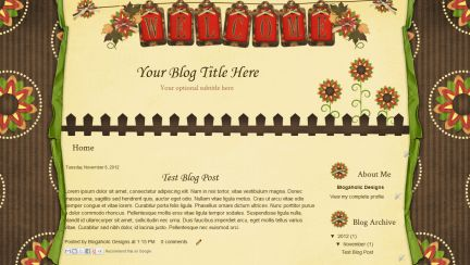 Free Blogger Blog Template | Fall