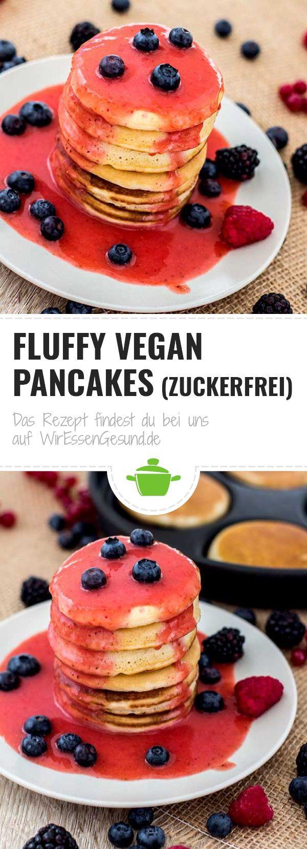 Fluffy vegan Pancakes (zuckerfrei) – WirEssenGesund.de