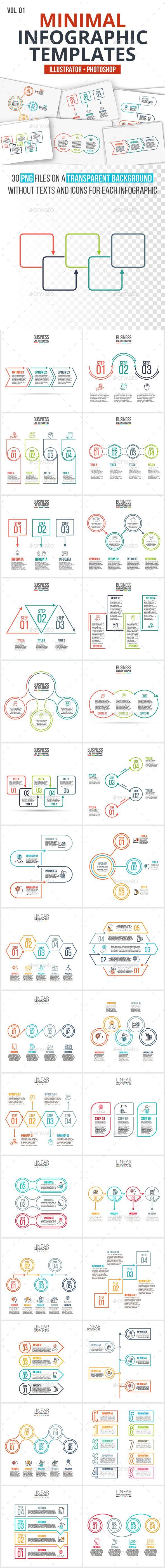 Minimal infographics pack v.01 - #Infographics