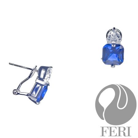 Shades of Blue Earrings. $198. Sterling Silver set with AAA white and blue cubic zirconia