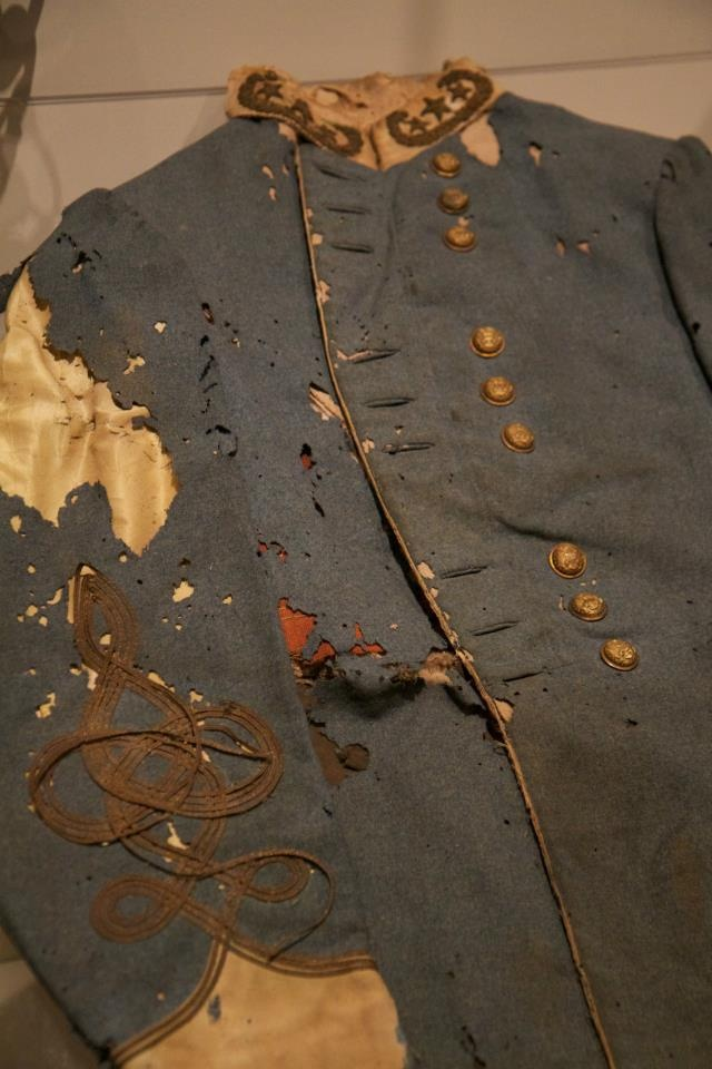 Uniform of Gen Patrick Cleburn, worn the day he was killed at the battle of Franklin, TN.