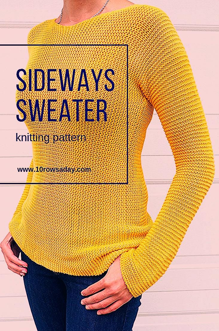 Great fitting sweater with minimal shaping | 10 rows a day