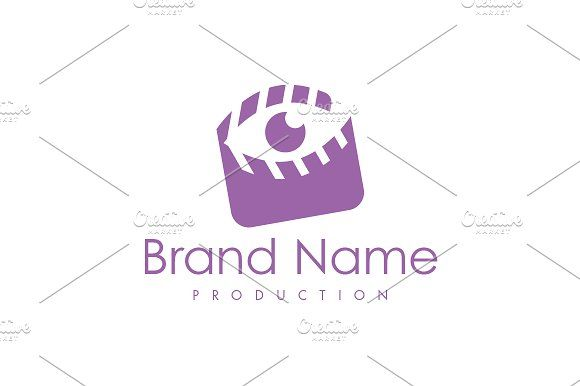 For sale. Only $29 - editing, tool, play, watch, look, gaze, clapboard, clapperboard, eye, vision, sight, iris, observer, view, film, video, search, movie, visual, purple, simple, logo, design, template,