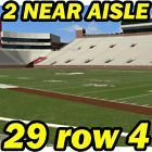 #Ticket  4TH ROW 2 NEAR AISLE: North Carolina @ Florida State FSU Football 10/01 29row4 #deals_us