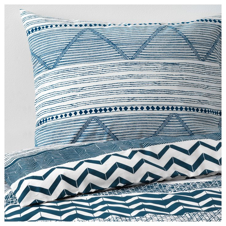 Bedroom Bedsheets Contemporary Childrens Bedroom Interior Design Modern Bedroom Decorating Ideas Pictures Junior 1 Bedroom Apartment: PROVINSROS Duvet Cover And Pillowcase(s), White, Blue In