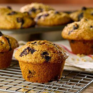 Muffins au son et aux bleuets recette