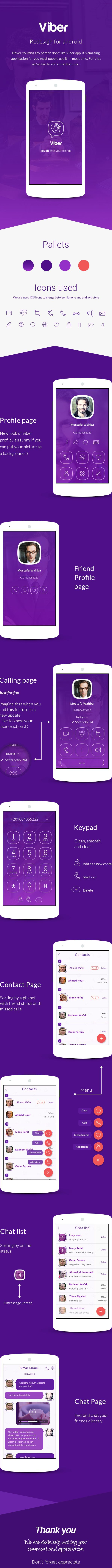 Viber redesign on Behance