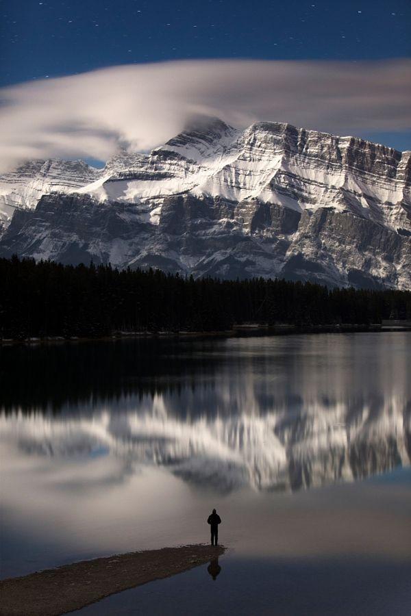 Snowy Mt Rundle (Banff, Alberta) by Paul Zizka / 500px