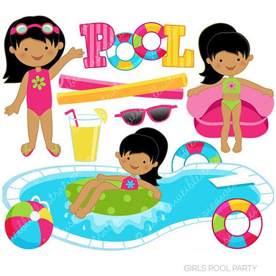 pretty girls swimming pool for kids