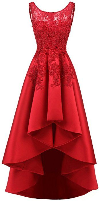 WWW USA Women s Sexy Party Dresses Red Sleeveless Short Front Long Back Evening  Dress at Amazon Women s Clothing store  1c396103bf28