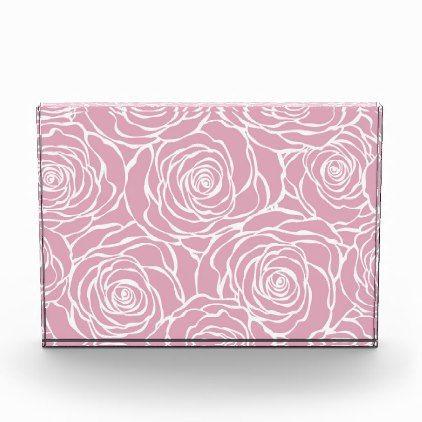 Peoniesfloralwhitepinkpatterngirlymodernbea Acrylic Award - girly gift gifts ideas cyo diy special unique