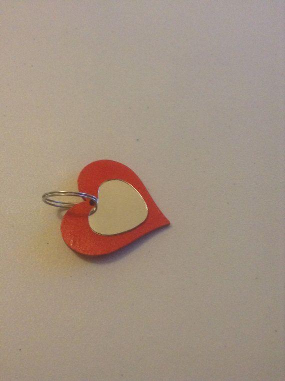 Wooden Heart Keyring