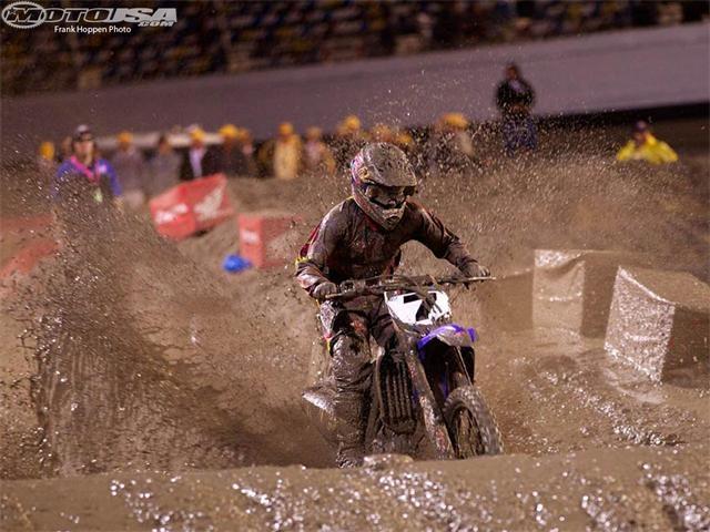 Daytona Supercross 2012 winner - James Stewart. Yes it was very muddy...