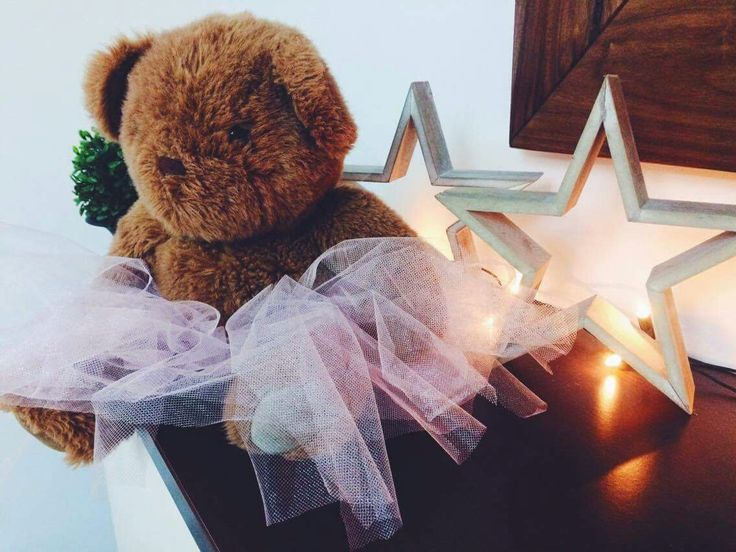 Bear with tutu Baby shower decor