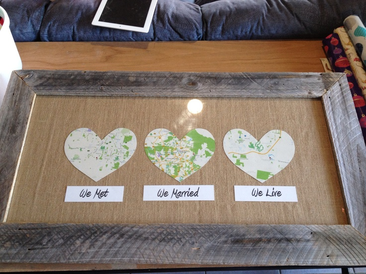 Wedding present for my sister in law. Recycled timber routed frame.