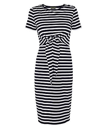 1e565a046332a Order a navy striped nursing dress today from Mothercare.com. Delivery free  on all