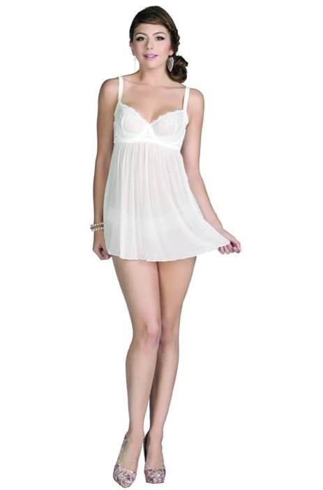 """""""Alexis"""" Babydoll in Ivory For More Details: www.facebook.com/photo.php?fbid=483995071612600=a.477894232222684.118116.111339788878132=3"""