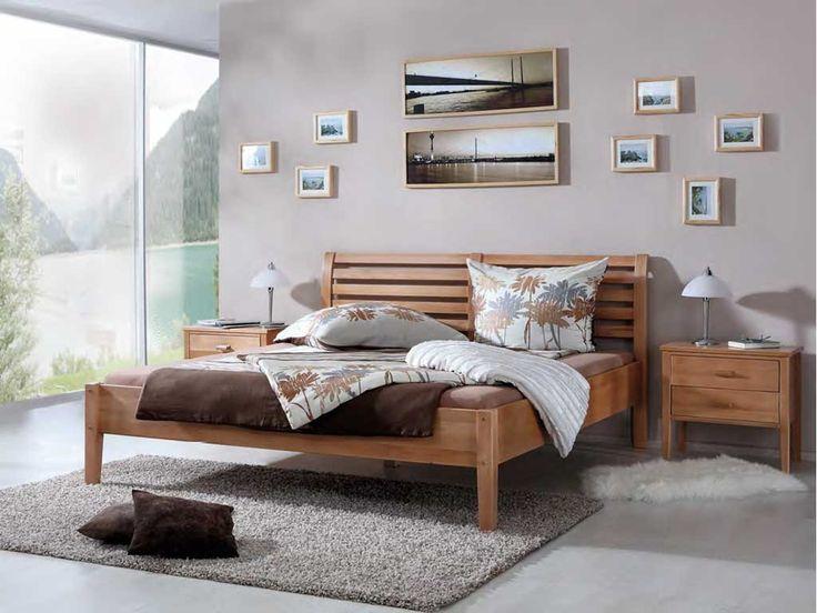 Łóżko z drewna bukowego Nina 180
