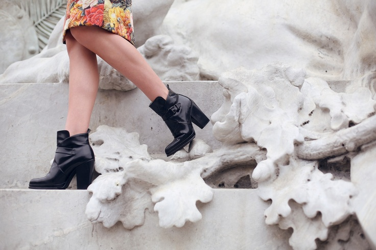 ankle boots: Clutches Borrowed, Tuula Vintage, Mnolog Clutches, Zara Boots, Ankle Boots, Vintage Wardrobe, Street Style, Gabbana Dresses, Gorjana Rings