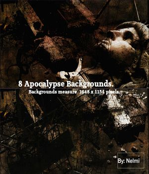 8 Apocalypse Backgrounds.  Apocalypse themed backgrounds for your renders in jpeg format  They measure 1648 x 1154 pixels.