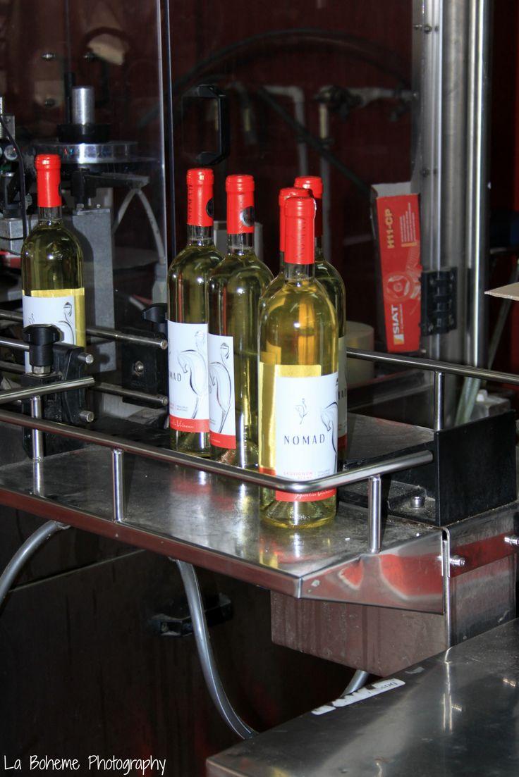Domeniile Sahateni wine bottling line.  Aurelia Visinescu wines.  https://www.facebook.com/AureliaVisinescuWines