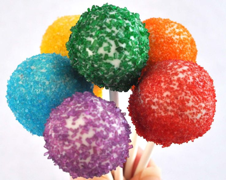 Cake pops!  Needs to be individually wrapped in cellophane baggies so dirt and germs won't get to it.