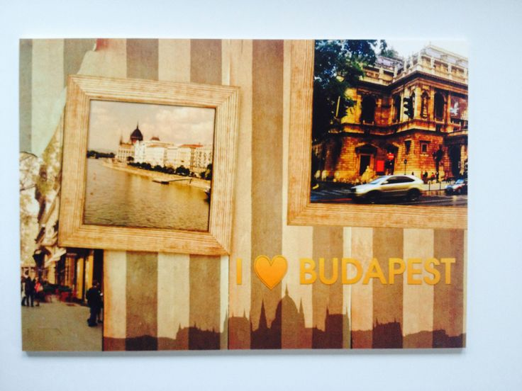 Retro striped wall with framed picture of the Parliament of Hungary, Andrássy street and the Opera house, Budapest :: I Love Budapest. 30€ + delivery. This is a unique 39×27 cm, specially direct printed 5mm thick PVC plate to decorate your walls, furniture, office, etc. You can order here: hello/@/artmarket.hu :: Also available on canvas, see link: http://artmarket.hu