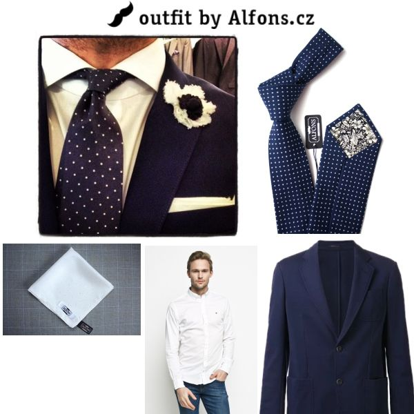 Alfons.cz is the guy, who knows, how to look stunning. Simply combine white #pocketsquare and white tie with essential navy blue and create timeless outfit that's fashionable 24/7. Trust me and get inspired as much as you can.  #menstyle #menfashion #style #fashion  #tie #bowtie #ootd #mensfashion #suit #outfitinspo #gentelman #moda  #kapesnicek #kravata #motylek