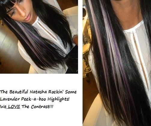 Peekaboo Hair Styles: Lavender Peekaboo Highlights