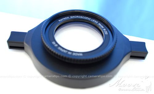 Raynox DCR-250 lens - © Copyright Cameratips.com    THIS will be my NEXT purchase..... I'm SO friggin' excited!!!!!