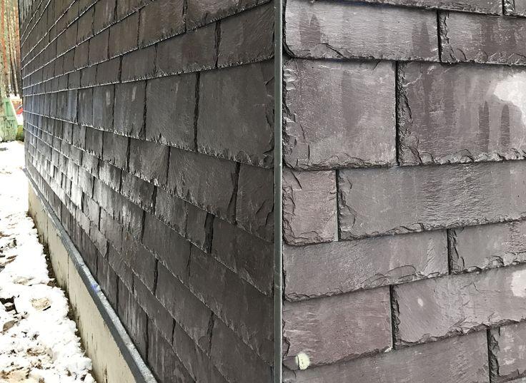 """Фасад из кровельного сланца #WelshSlate #Penrhyn в стиле """"Динамичная кладка"""""""