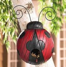 Lady bug bird house I must have....
