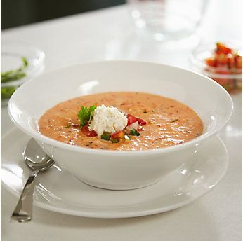 Roasted Red Pepper Crab Bisque by @mytexaslife