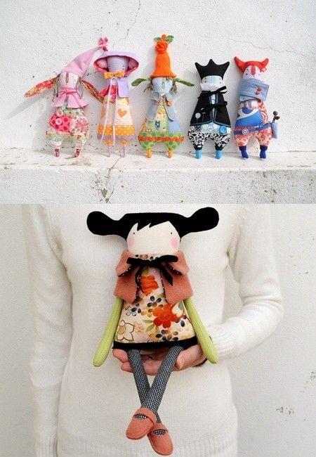 Kind of spunky little dolls.