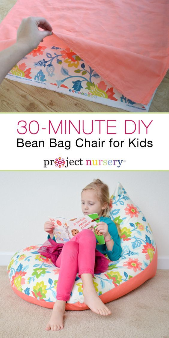Make a bean bag chair that's as unique as your child. With just two pieces of fabric, a zipper, and a straight stitch, you can create a kid's bean bag chair in just 30 minutes. It makes the perfect spot for lounging or curling up with a good book, and it's just the right size for your little one. Get all kinds of easy-to-follow DIYs at ProjectNursery.com, plus baby essentials, exclusive brand offers, and more.