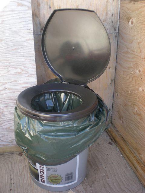 bucket toilet example